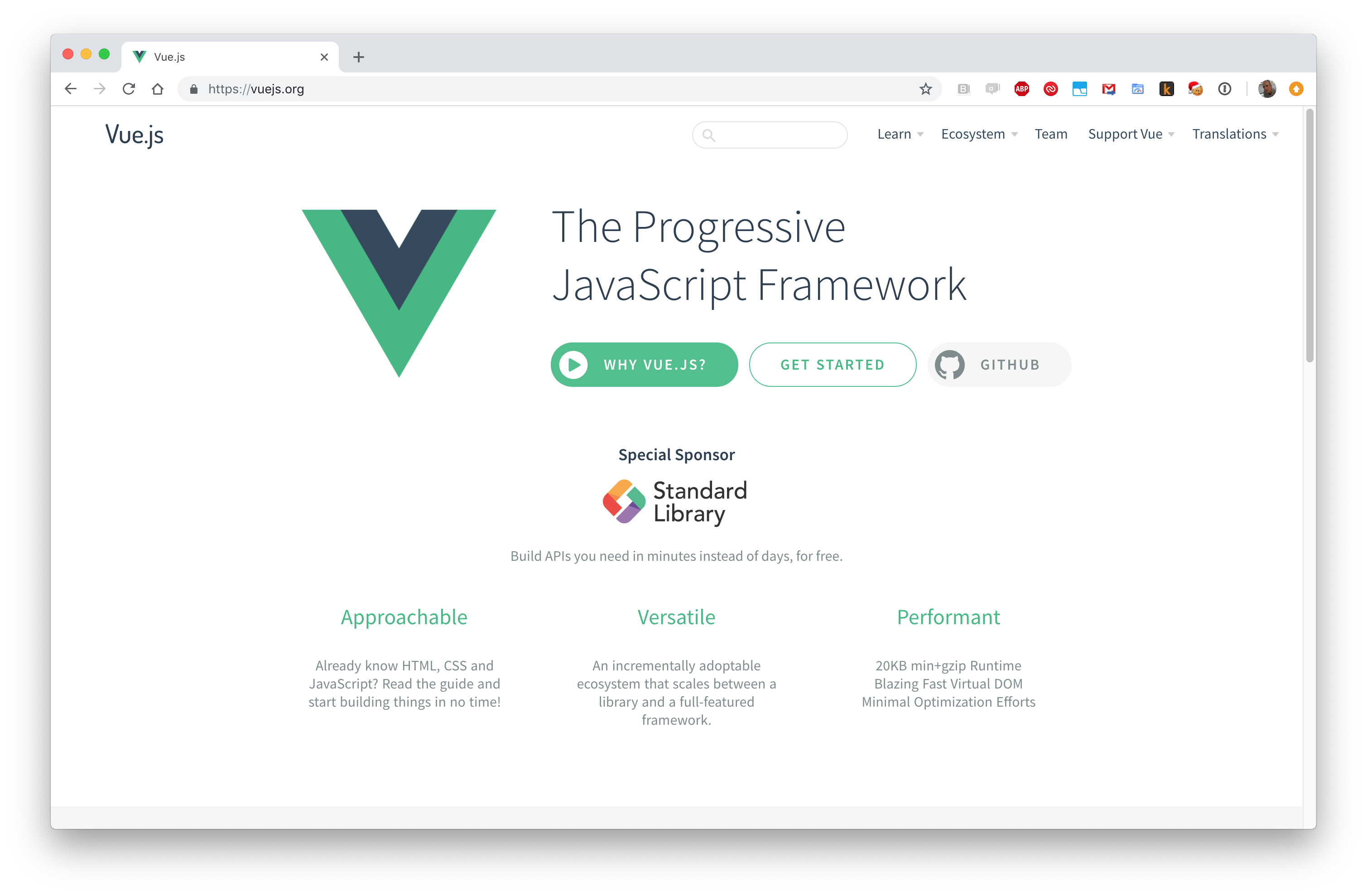 Vue is a Progressive JavaScript Framework