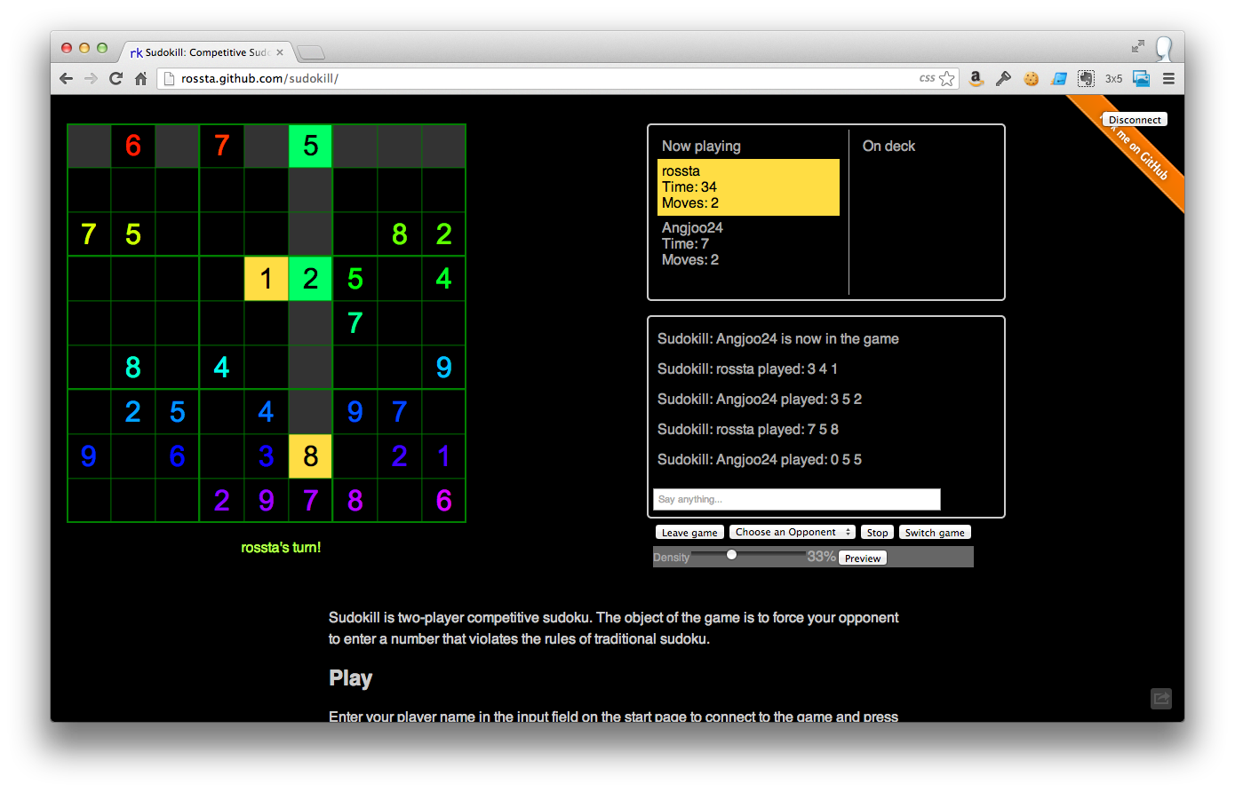 Play Sudokill: Sudoku's not a one player game anymore